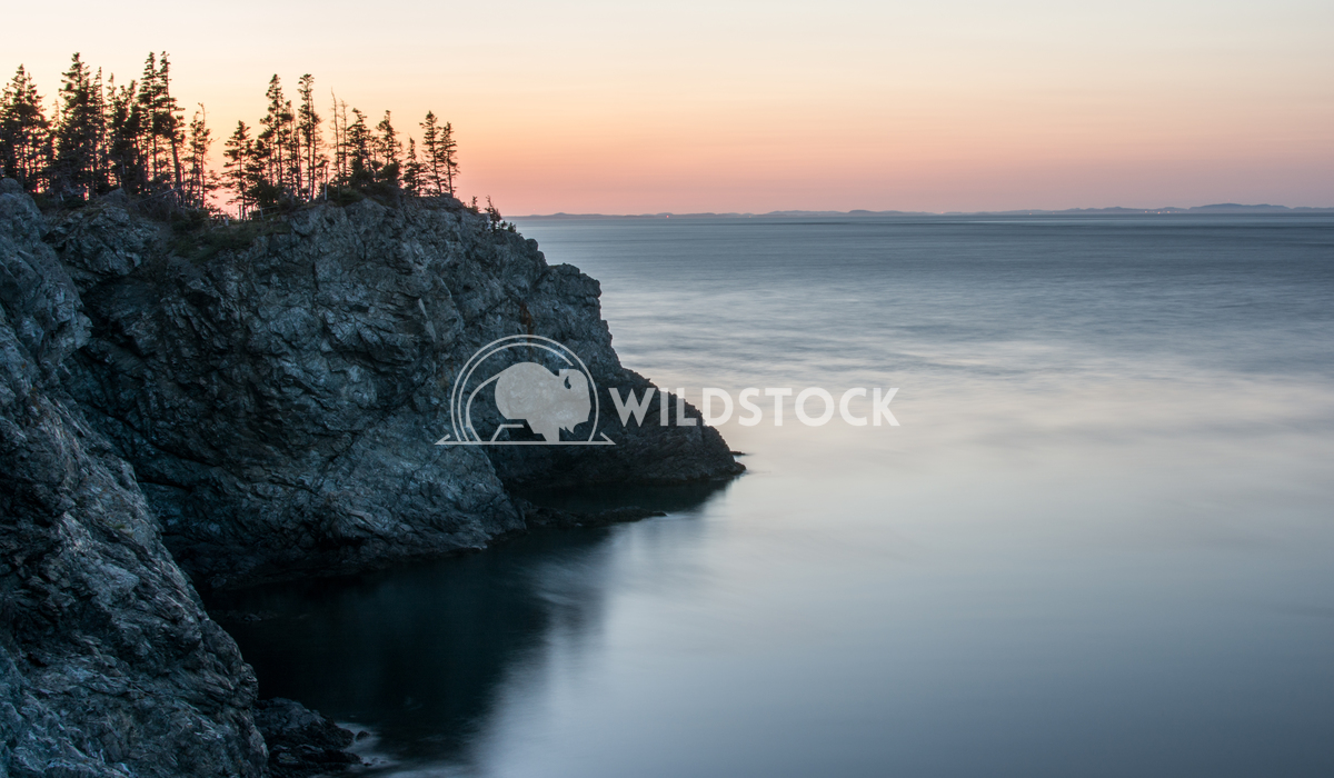Long Exposre of Oceans & Rocky Shoreline During Sunset Justin Dutcher Grand Manan Island