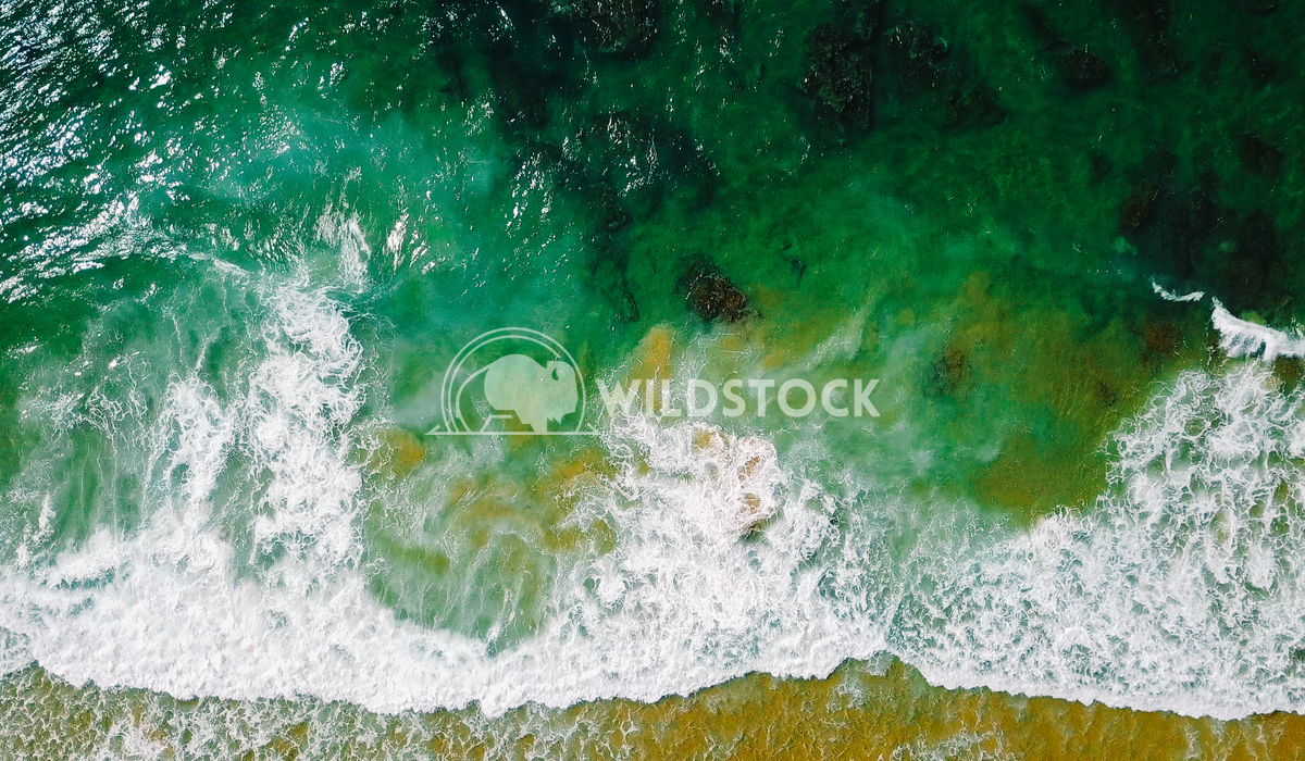 Aerial Panoramic Drone View Of Ocean Waves And Beautiful Sandy Beach in Portugal Radu Bercan Aerial Panoramic Drone View