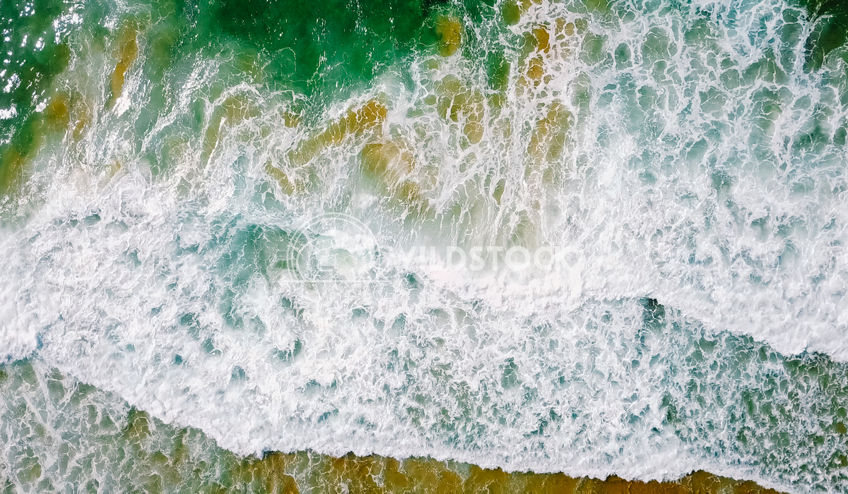 Aerial Panoramic Drone View Of Waves And Beautiful Sandy Beach in Portugal Radu Bercan Aerial Panoramic Drone View Of Bl