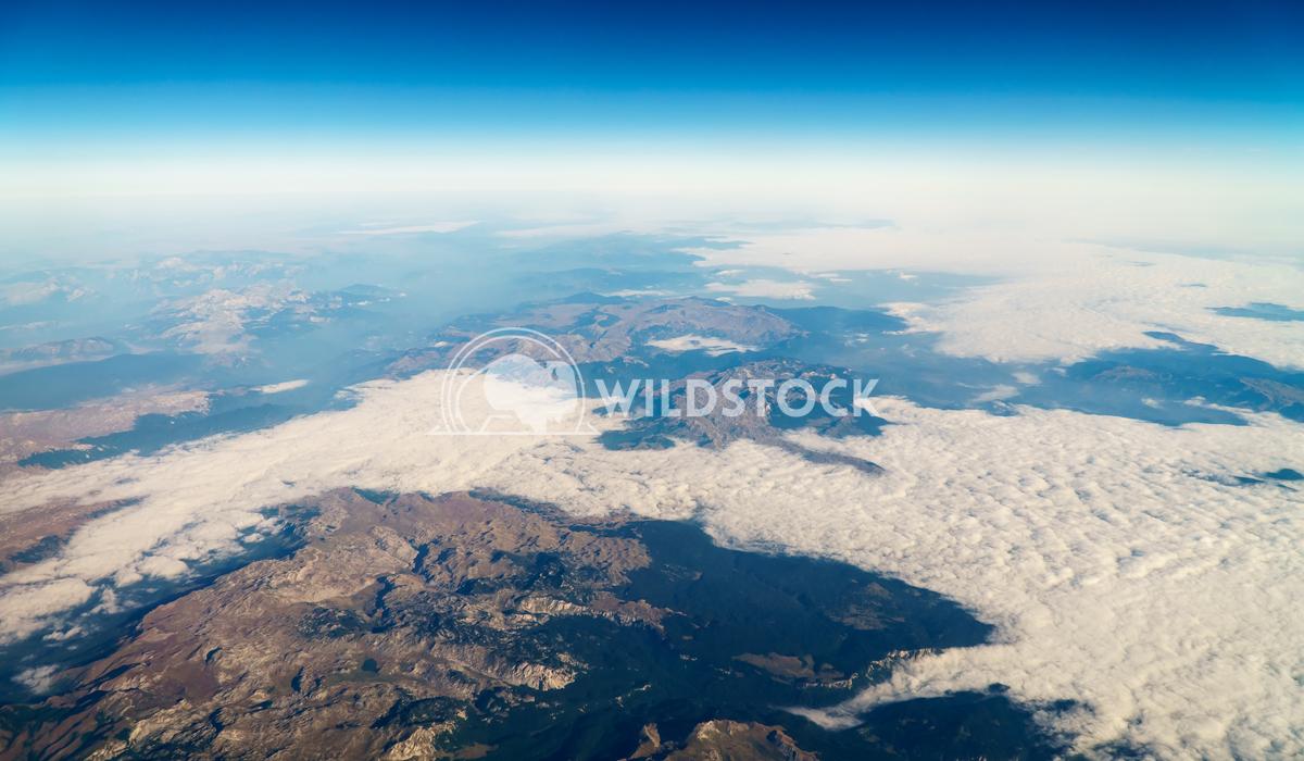 Airplane View Of Planet Earth Horizon Radu Bercan Airplane View Of Planet Earth Horizon