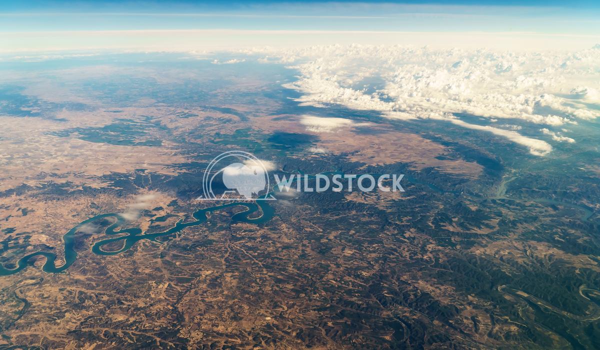Aerial Satellite View Of Planet Earth Horizon Radu Bercan Aerial Satellite View Of Planet Earth Horizon