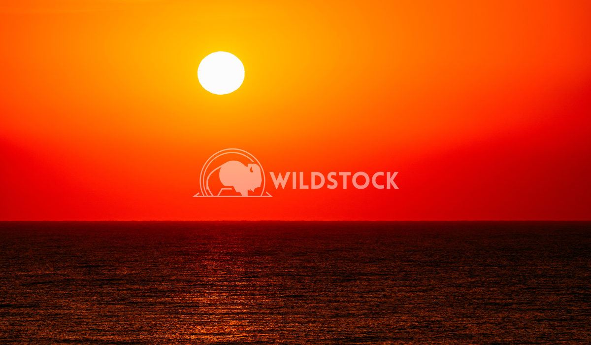 Morning Red Sunrise Sky Over The Ocean Radu Bercan Morning Sunrise Sky Over The Ocean