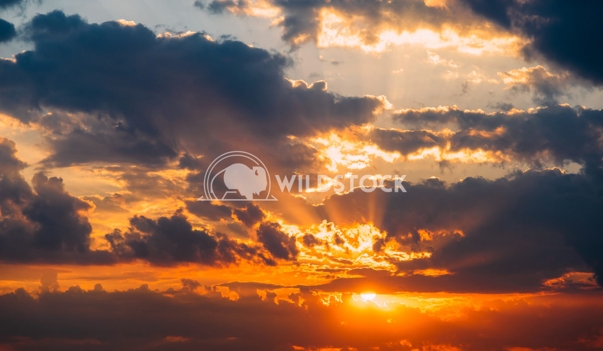 Beautiful Sunset On Cloudy Summer Sky Radu Bercan Beautiful Sunset On Cloudy Summer Sky