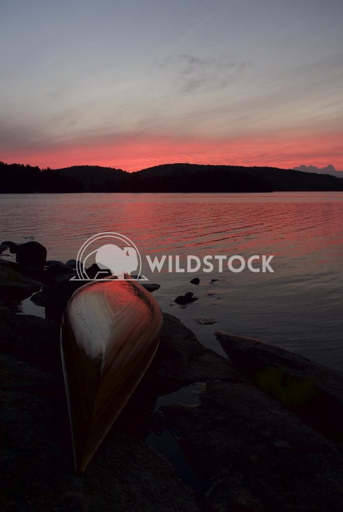 Canoe Sunset by Lake Jason Eke