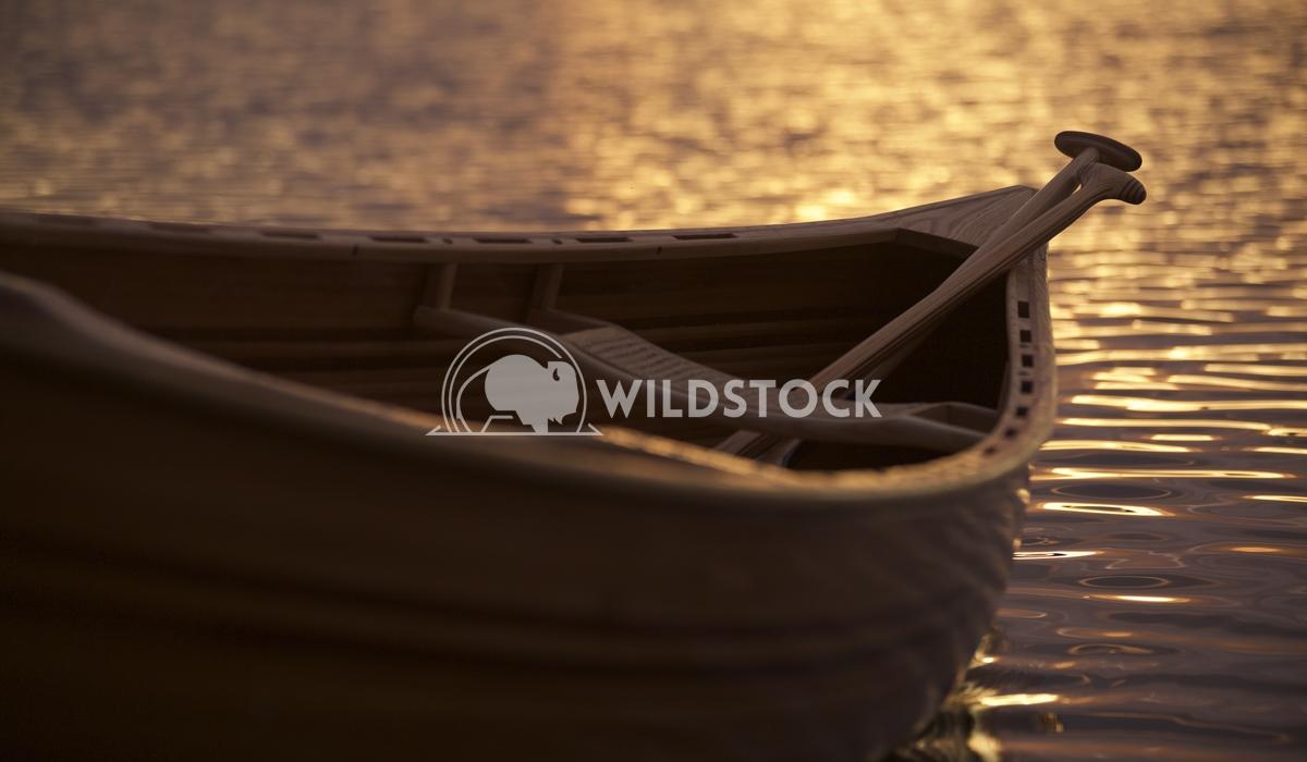 Canoe and paddle at dusk Jason Eke