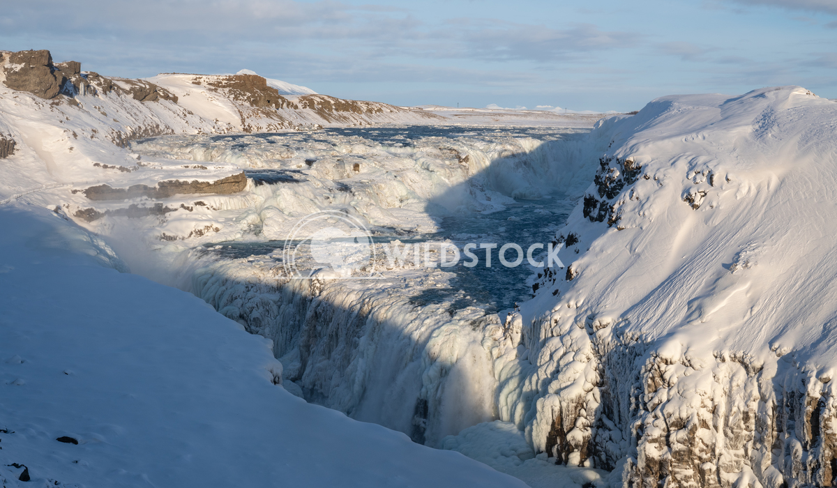 Gullfoss, Iceland, Europe 4 Alexander Ludwig Panoramic image of the frozen waterfall Gullfoss, Iceland, Europe