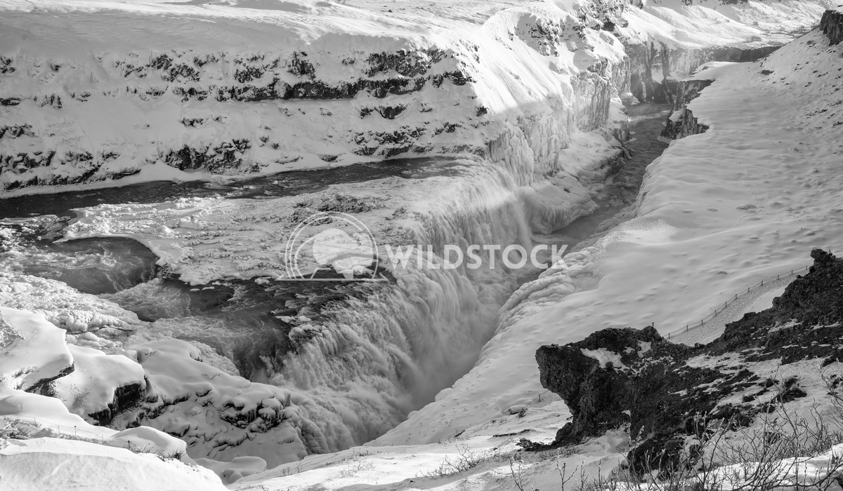 Gullfoss, Iceland, Europe 7 Alexander Ludwig Panoramic image of the frozen waterfall Gullfoss, Iceland, Europe