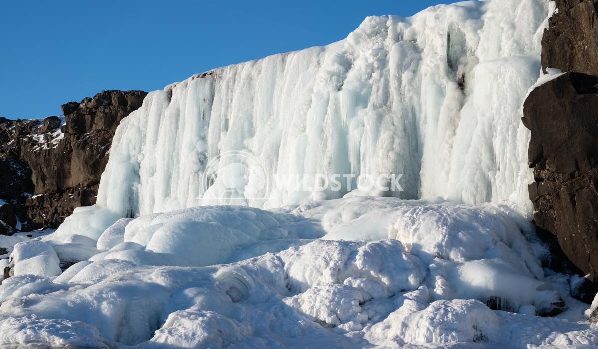 Oexararfoss, Thingvellir National Park, Iceland, Europe 1 Alexander Ludwig Frozen waterfall Oexararfoss within the Thing