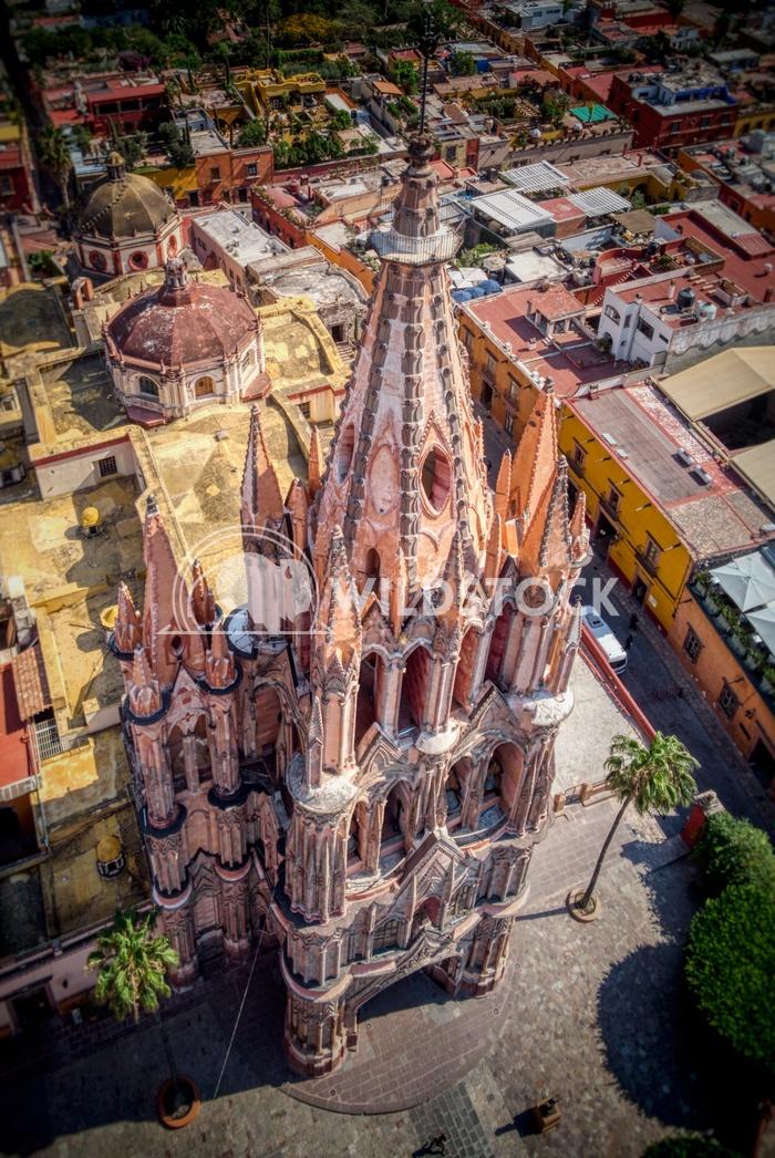 San Miguel Allende-2,Mexico Robert Robert La Parroquia de San Miguel Arcángel, the current parish church of San Miguel,