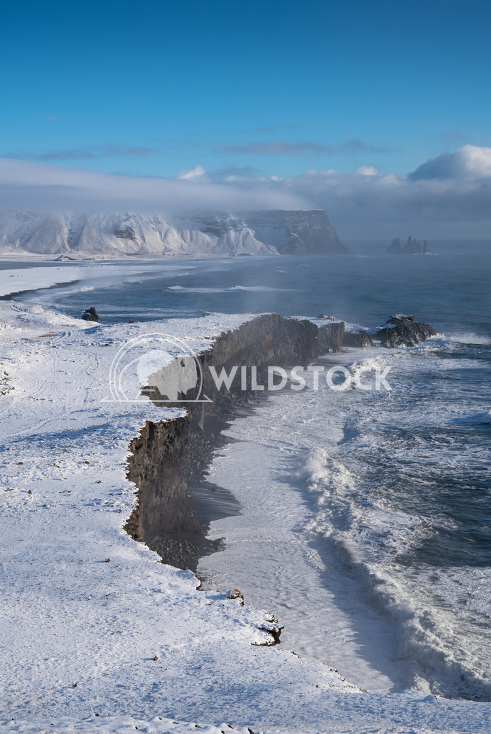 Cape Dyrholaey, Iceland 4 Alexander Ludwig Panoramic image of the coastal landscape of Cape Dyrholaey on a winter day wi