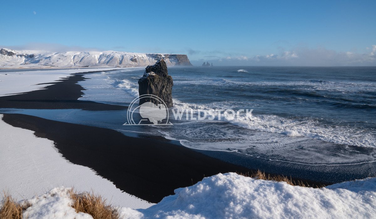 Cape Dyrholaey, Iceland 13 Alexander Ludwig Panoramic image of the coastal landscape of Cape Dyrholaey on a winter day w
