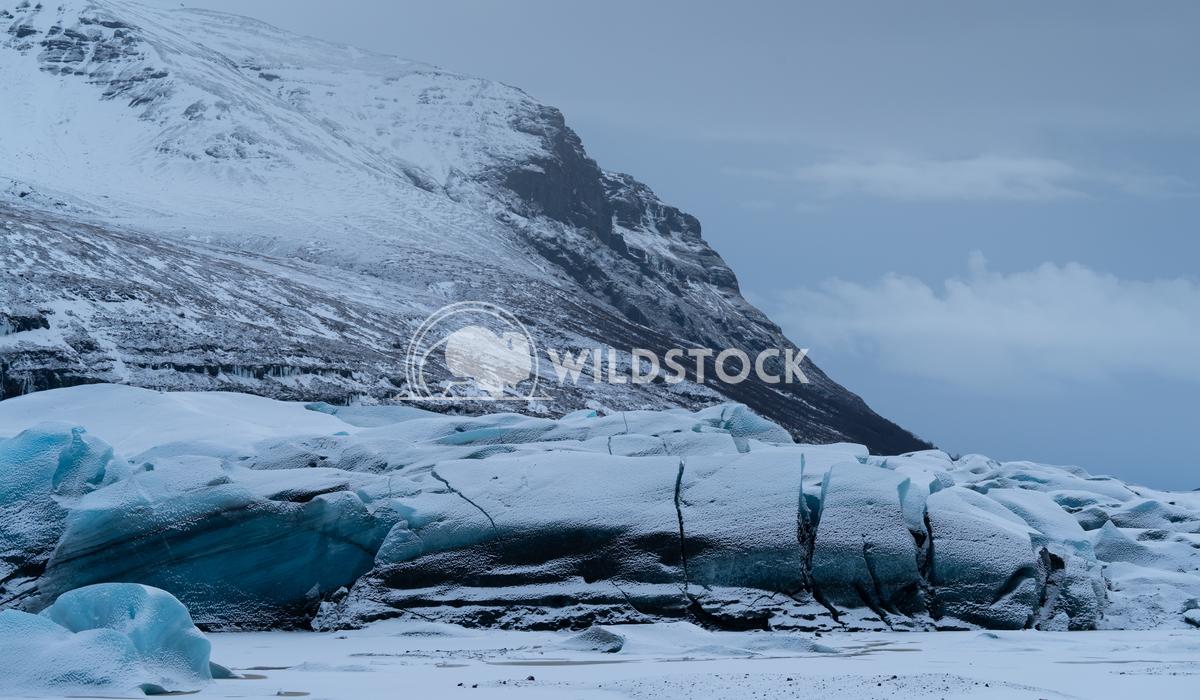 Svinafellsjoekull, Iceland, Europe 2 Alexander Ludwig Panoramic image of the snow-coverd glacier Svinafellsjoekull on a