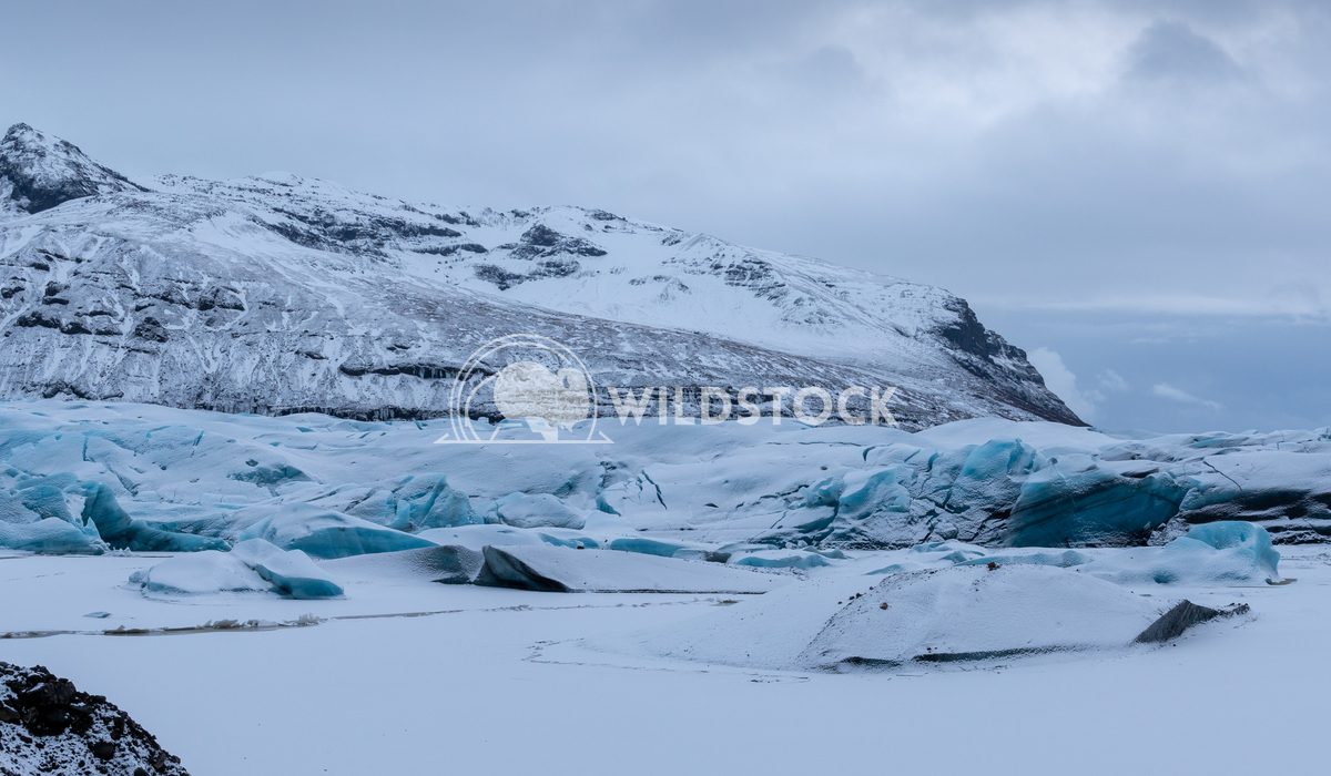 Svinafellsjoekull, Iceland, Europe 3 Alexander Ludwig Panoramic image of the snow-coverd glacier Svinafellsjoekull on a