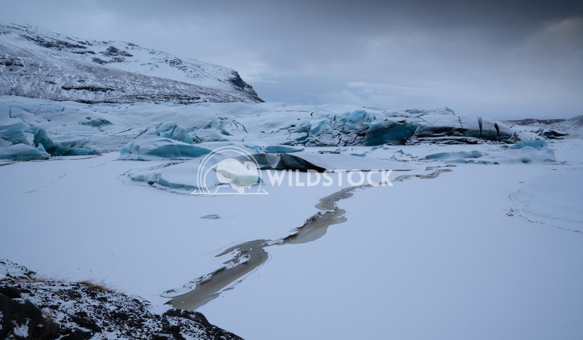 Svinafellsjoekull, Iceland, Europe 4 Alexander Ludwig Panoramic image of the snow-coverd glacier Svinafellsjoekull on a