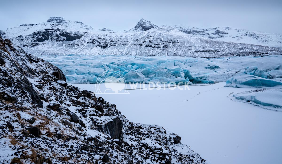 Svinafellsjoekull, Iceland, Europe 5 Alexander Ludwig Panoramic image of the snow-coverd glacier Svinafellsjoekull on a