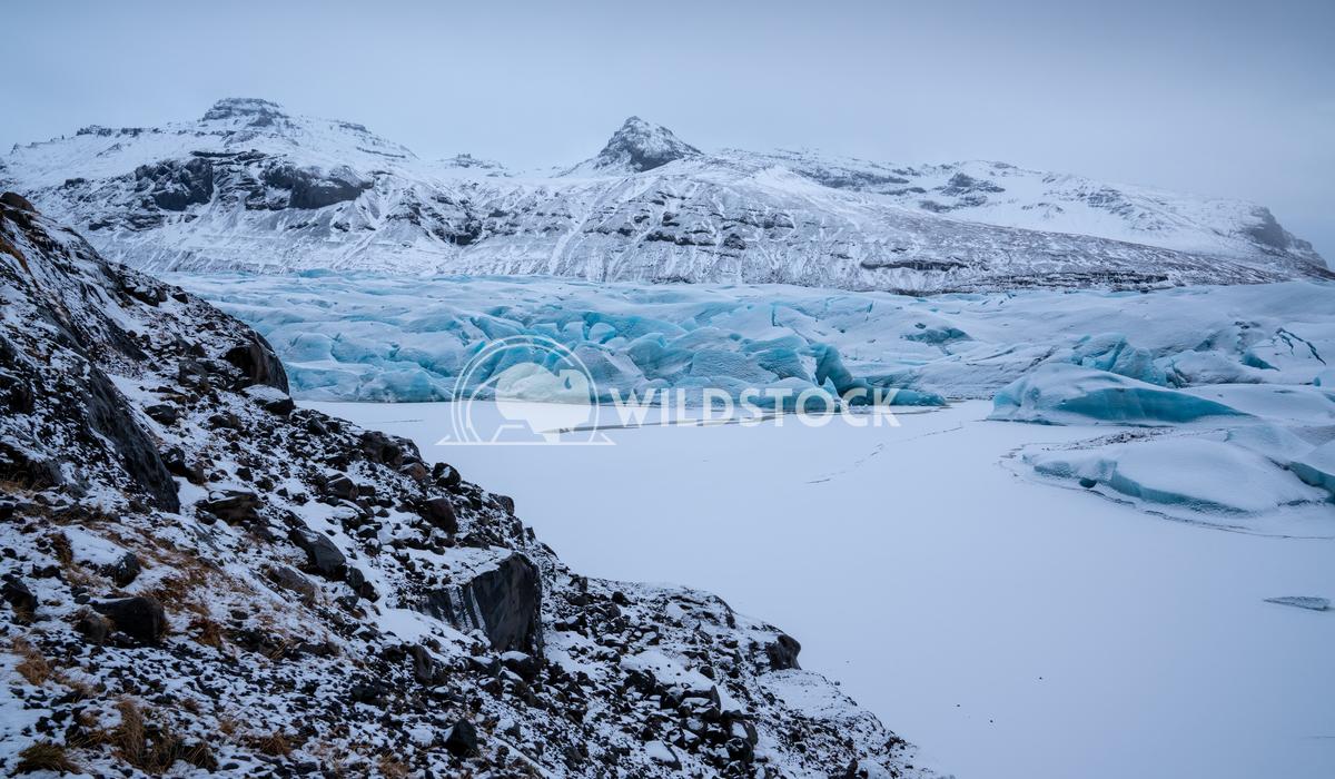 Svinafellsjoekull, Iceland, Europe 6 Alexander Ludwig Panoramic image of the snow-coverd glacier Svinafellsjoekull on a