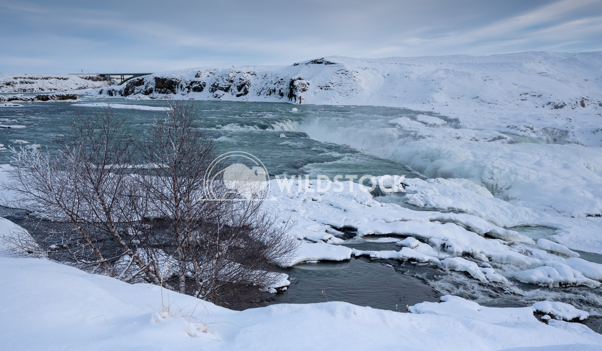 Urridafoss, Iceland, Europe 2 Alexander Ludwig Panoramic image of the frozen waterfall Urridafoss, Iceland, Europe