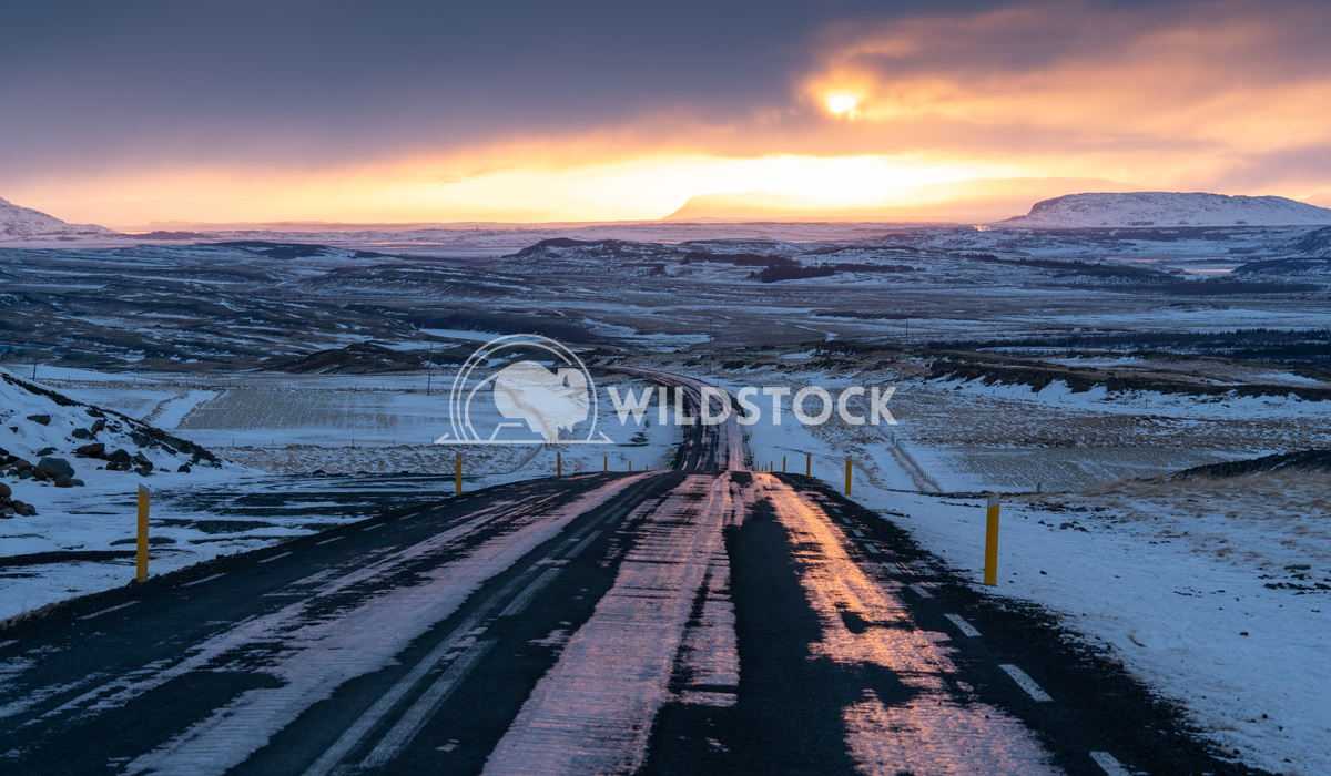 Sunset, Iceland, Europe 2 Alexander Ludwig Sunset on a cold winter day in Iceland, Europe