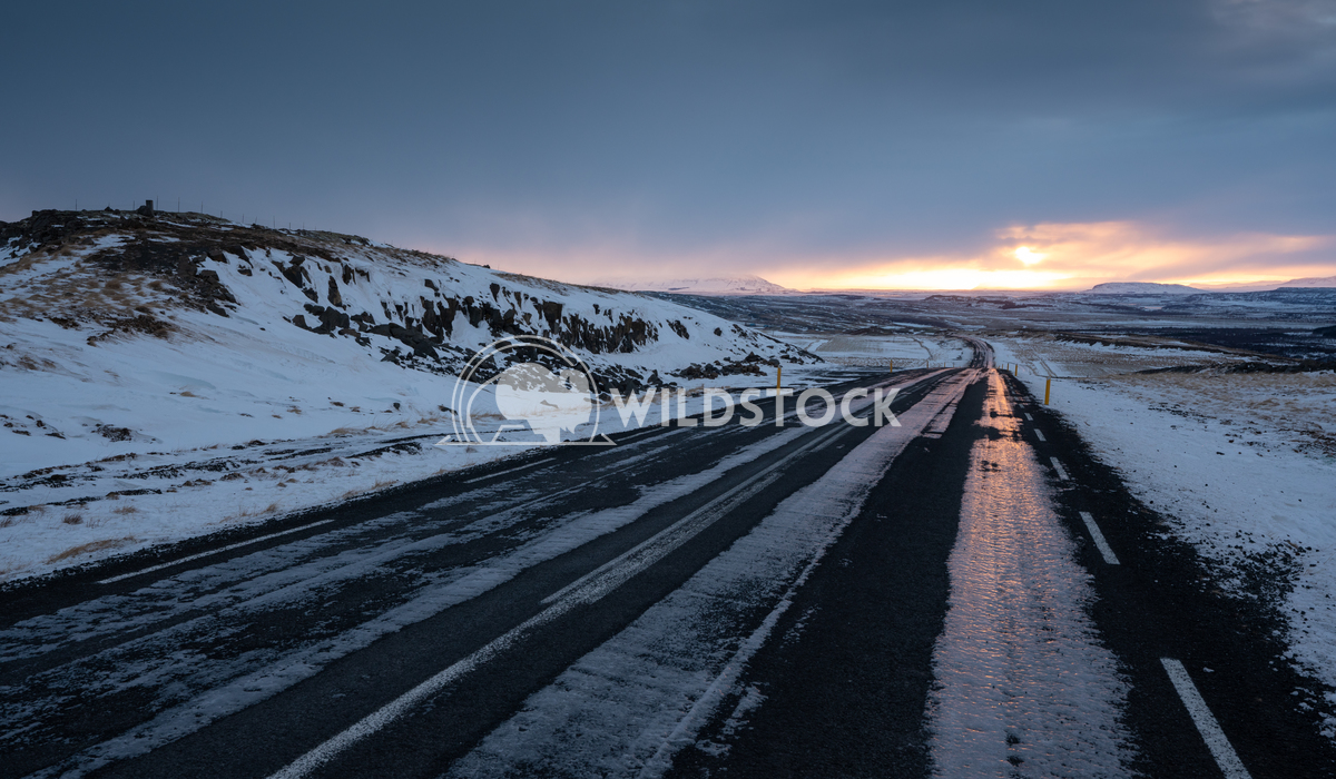 Sunset, Iceland, Europe 1 Alexander Ludwig Sunset on a cold winter day in Iceland, Europe