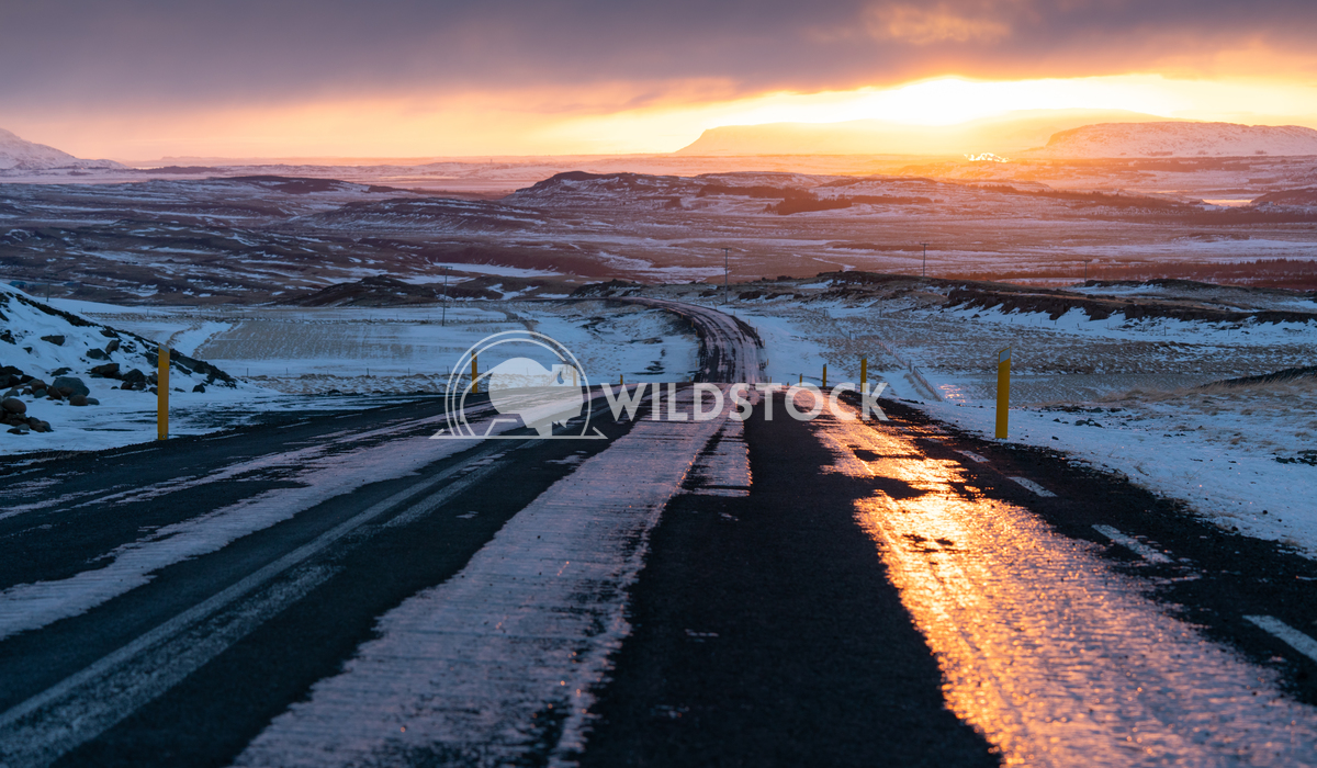 Sunset, Iceland, Europe 3 Alexander Ludwig Sunset on a cold winter day in Iceland, Europe