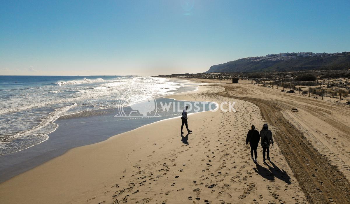 Views of the shore of the beach Cristobal Martinez Ibarra