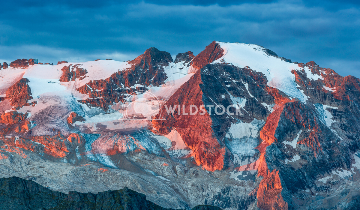 Sunrise in the mountains Vincentiu Solomon The Marmolada Glacier at sunrise in the Italian Alps.