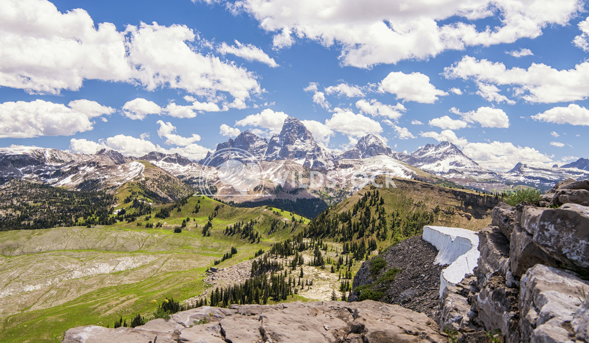 Different view of the Tetons Stacy White View of the Teton mountain range from the west side.